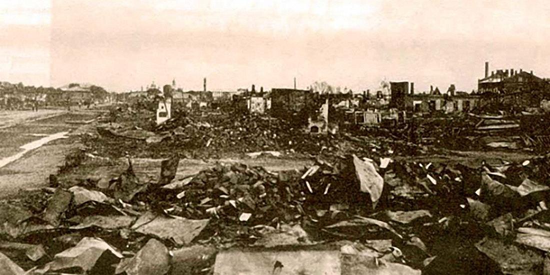 22. Разрушенные и сгоревшие жилые дома