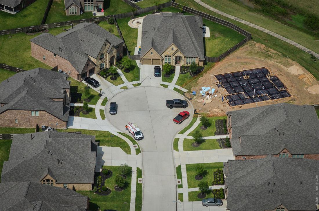 Как строят дома в США? Планировка нового района и строительство фундамента ...