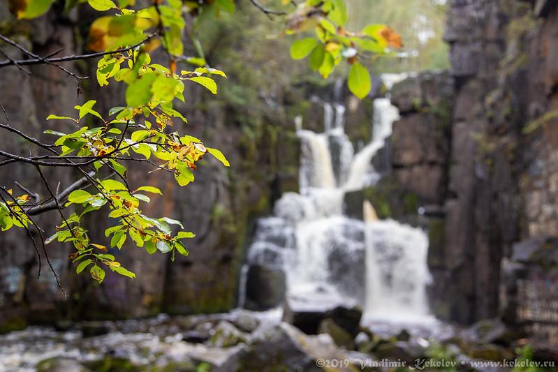 Уковский водопад и река Ук / Ukowski waterfall and river Uk /  5829