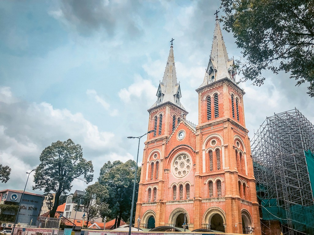 Norte Dame Cathedral   One Day in Ho Chi Minh