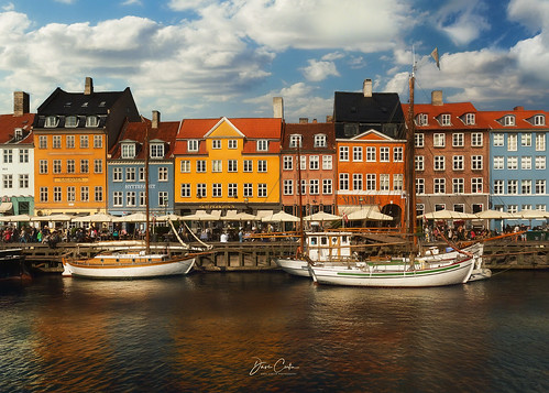 copenhagen denmark harbor nyhavn waterfront water capital afternoon