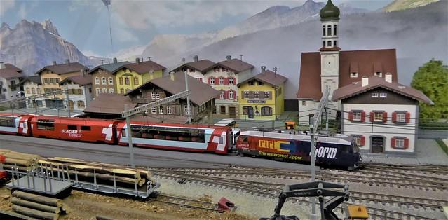Glacier Express Arrives at Vals.