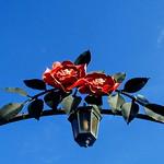 Metal Red Roses