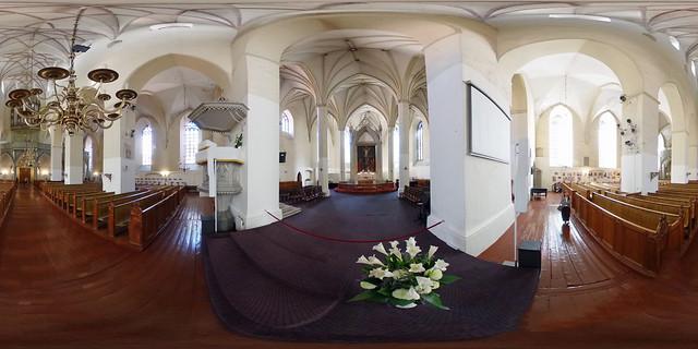Estland - Tallinn, Olaikirche Innenansicht 360 Grad