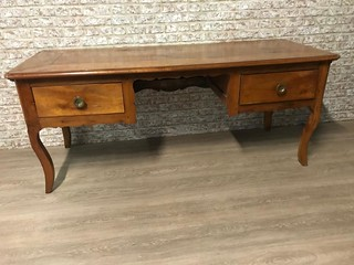 19th Century Cherry two drawer desk