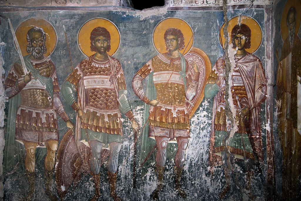 Holy Martyrs Sabbas Stratelates, Eutropius and Cleonic of Amasea and Basiliscus of Komana