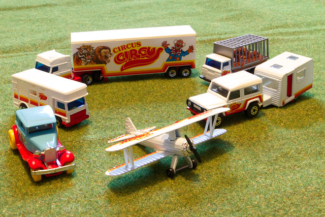 The day the circus came to town.   Crazy Tuesday - toys.   A Matchbox set from the 1990's