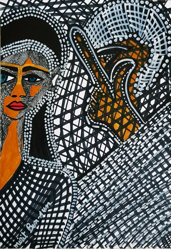 Venta de pintura original retrato desde Israel Mirit Ben-Nun
