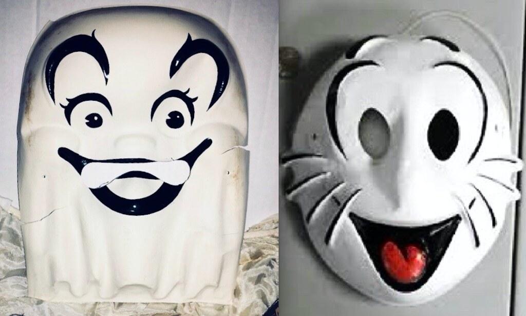Casper and Shmoo Halloween Masks 2019