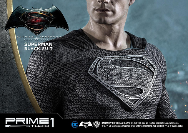 黑色正義力量!Prime 1 Studio《蝙蝠俠對超人:正義曙光》HD Museum Masterline 超人黑色衣裝版 1/2 比例雕像(HDミュージアムマスターライン スーパーマン ブラックスーツ版)