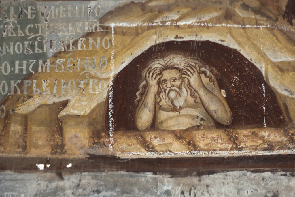 Crucifixion. Detail. Adam