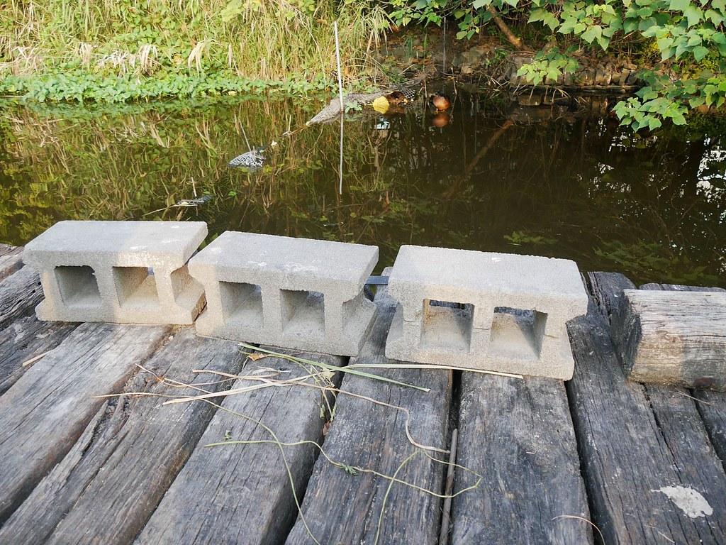 宏遠興業自製環保磚(攝影:楊軒豪)