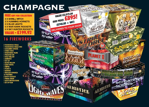 NEW FOR 2019 - Champagne DIY Fireworks Display Pack
