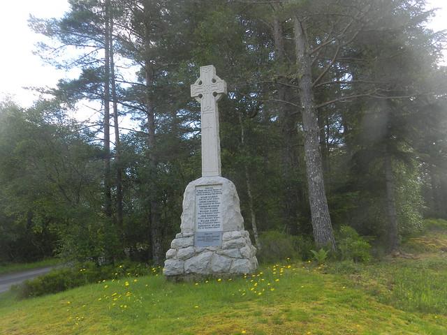 Rosehall War Memorial, Rosehall, Sutherland, July 2019