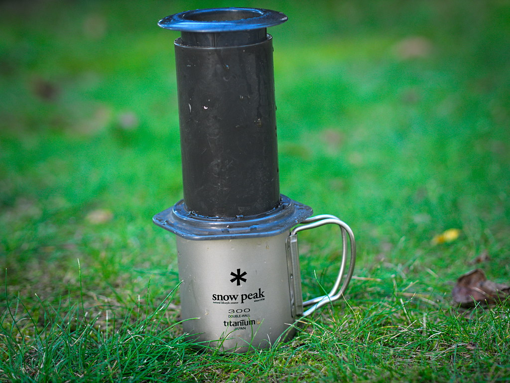 Snow Peak titanium mug & Aeropress