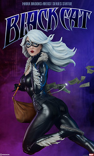 性感大盜現身! Sideshow Collectibles Mark Brooks Artist Series【黑貓】Black Cat 1/5 比例全身雕像作品 普通版/EX版