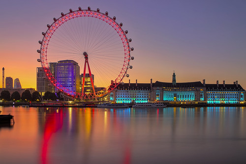 londoneye london uk thames sunrise southbank andreapucci
