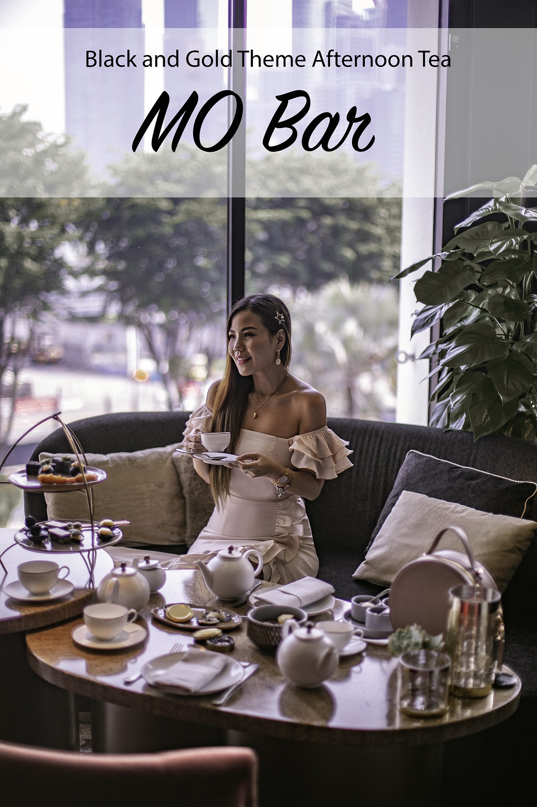 [Food & Lifestyle] Black & Gold Theme Afternoon Tea at MO Bar, Mandarin Oriental Singapore
