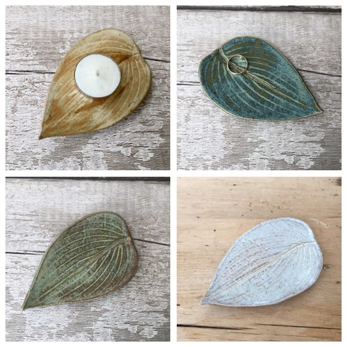 Leaf ceramics for a Zen home