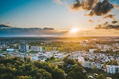 Sunset | Aukštieji Šančiai | Kaunas aerial