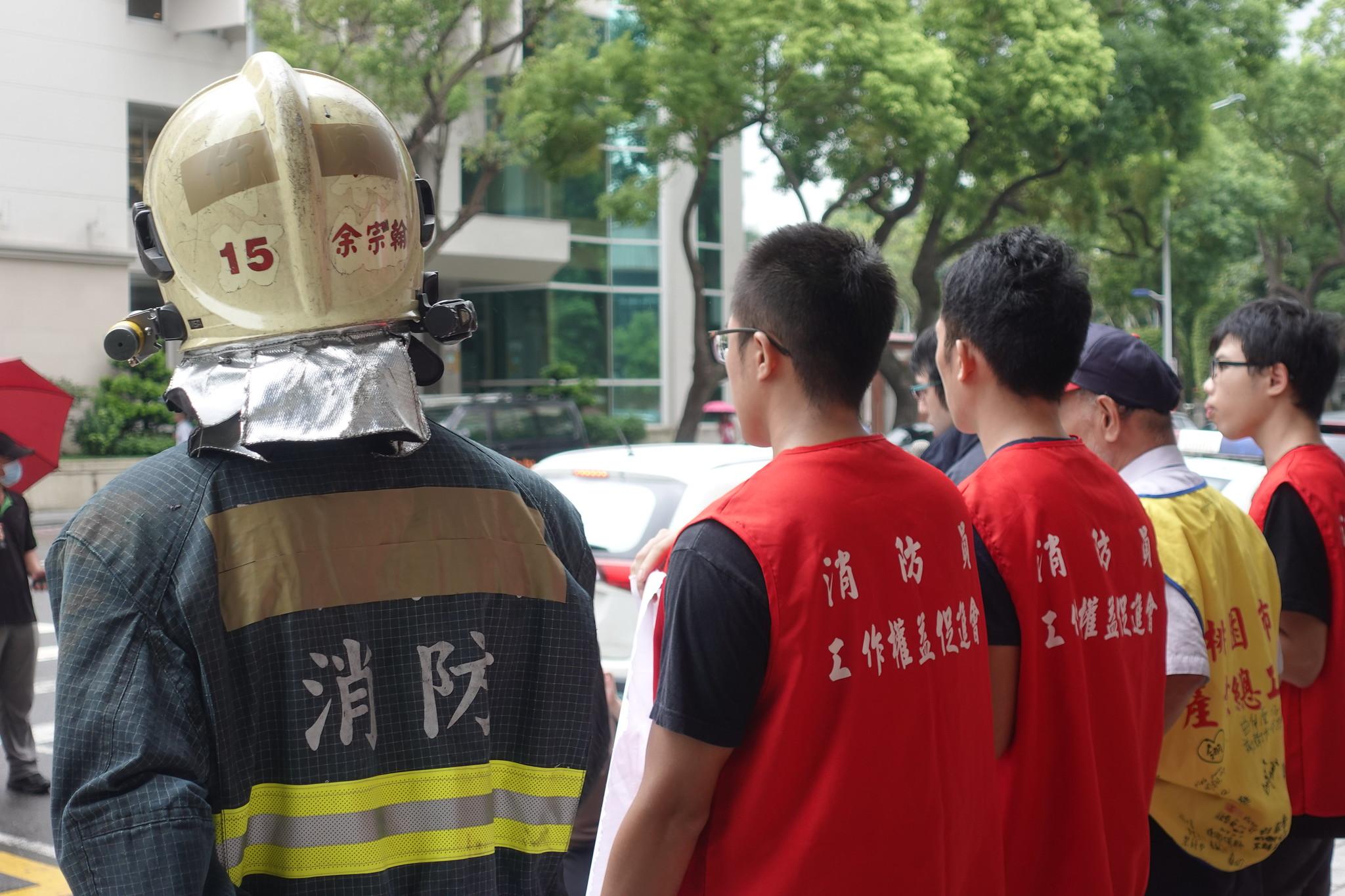 消防員工作權益促進會主要由現職消防員組成。(攝影:張智琦)