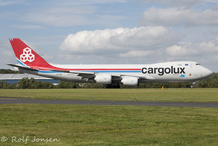 LX-VCI Boeing 747-8F Cargolux Prestwick airport EGPK 24.07-19