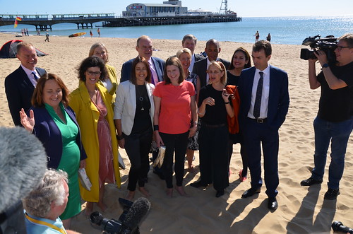 MPs on beach Bournemouth Sept 19