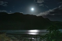 The Moon over Loch Long