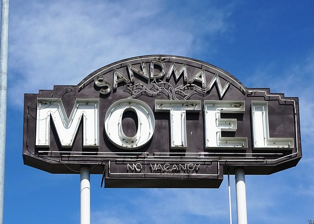 MT, Libby-U.S. 2 Sandman Motel Neon Sign