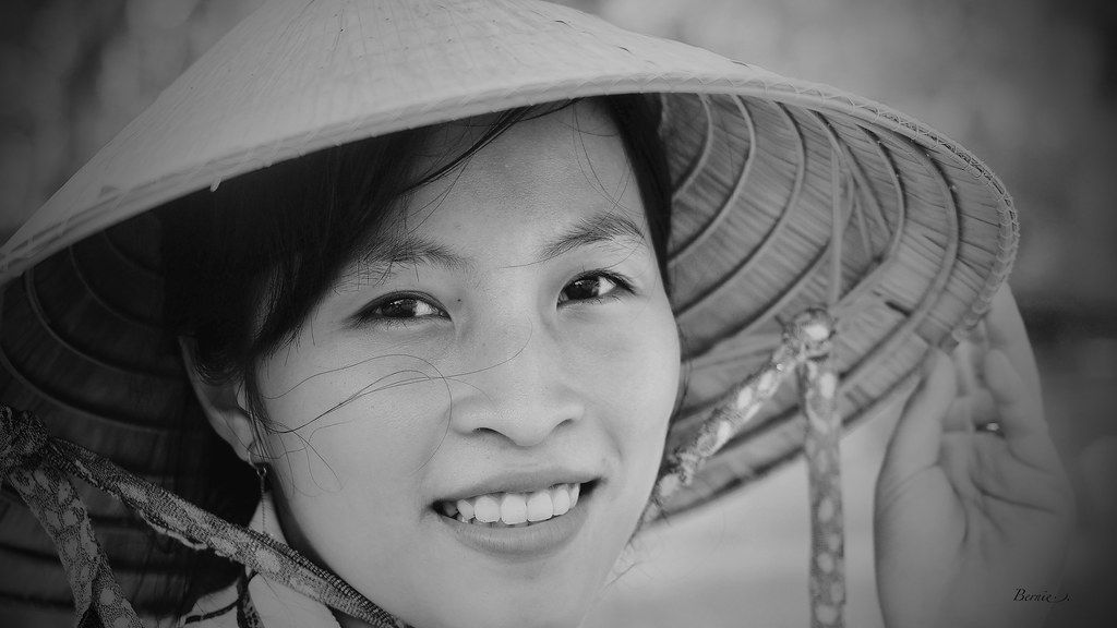 Vietnam in Black and white on the Mekong..