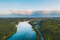 River | Kaunas aerial