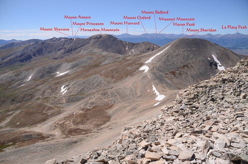 Looking southwest at mountains from the southwest ridge of Mount Sherman near 13,904 ft (2)
