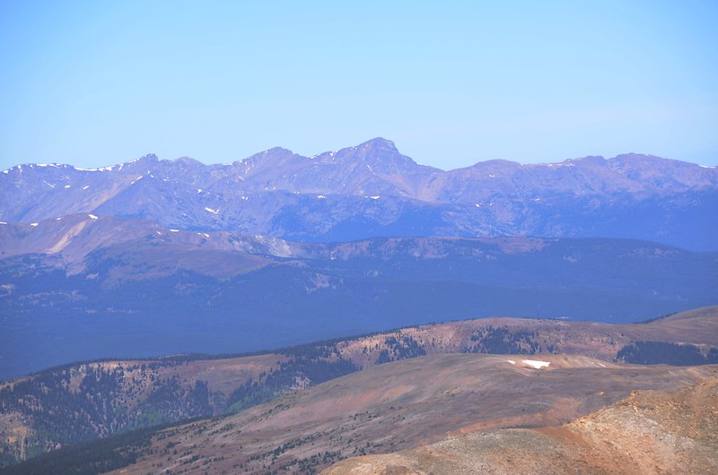 Looking northwest at Mount of the Holy Cross from Mount Sherman's summit