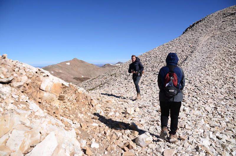 A small notch near 13,704 ft (5)