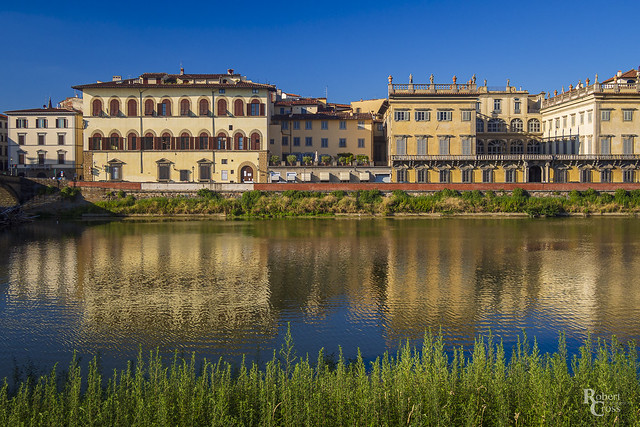 Blue Skies Along the Arno