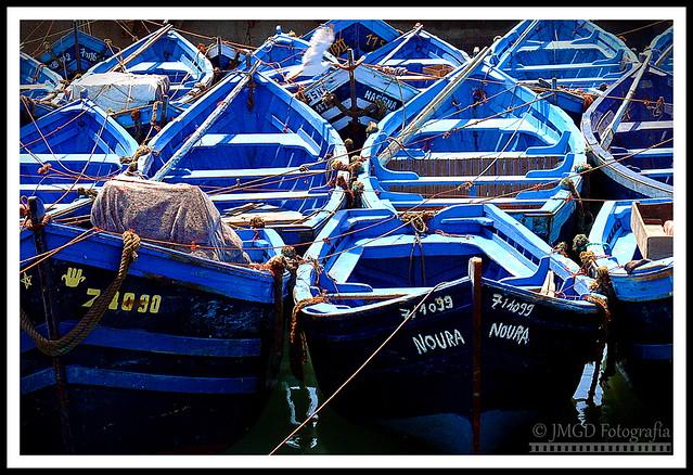 Blue Boats (Essaouira)