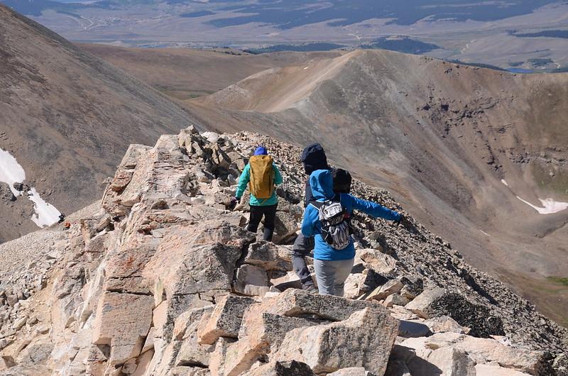 Narrow ridge near the summit (7)