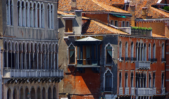Venetian windows.