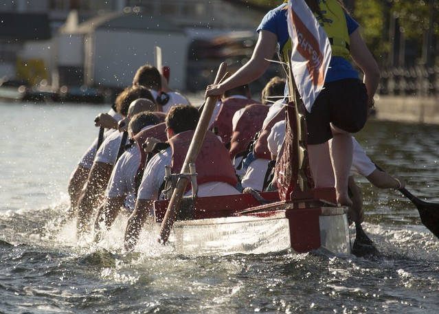 Dragon Boat: on the water