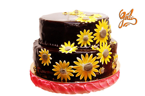 Wedding Cake Tournesols