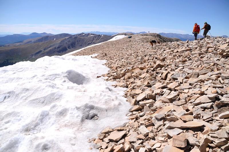 The summit ridge of Mount Sherman