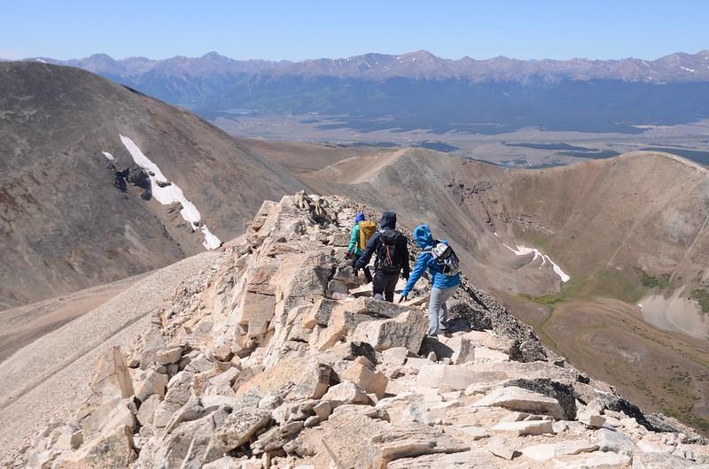 Narrow ridge near the summit (6)