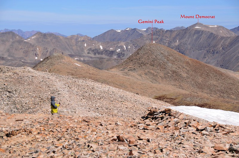 Looking north at mountains from Mount Sherman's summit (2)