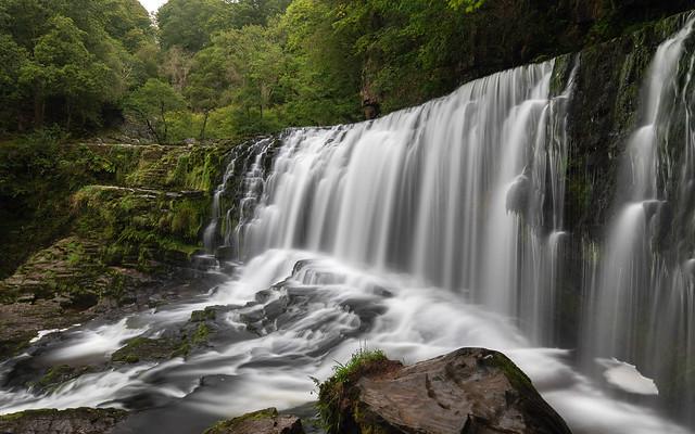 Sgwd Isaf Clun-Gwyn, Afon Mellte