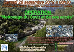 """Affiche de l'opération """"Nettoyage du Cavu et de ses accès"""" du Samedi 28 septembre 2019"""