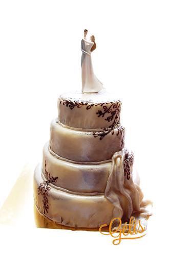 Wedding cake inspiration robe de mariée