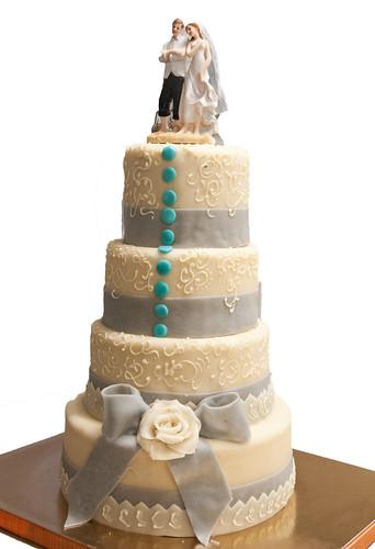 Wedding cake Boutons et Noeud