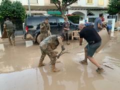 Unidades del #EjércitodeTierra en las inundaciones #DANA 2019