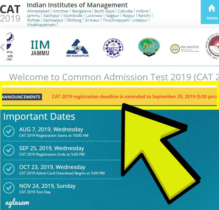 CAT 2019 Registration deadline extended by 7 days! No chance to apply after that, Image re-upload dates also out