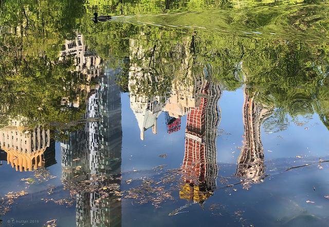 NY central park reflections